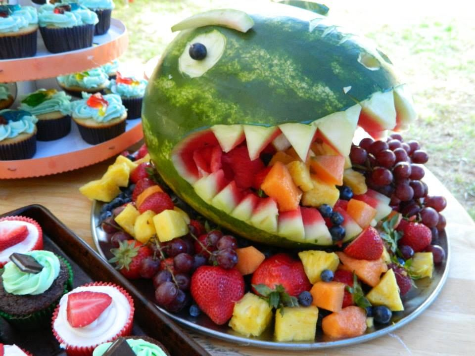 This is my take on the dinosaur fruit salad pin It turned out