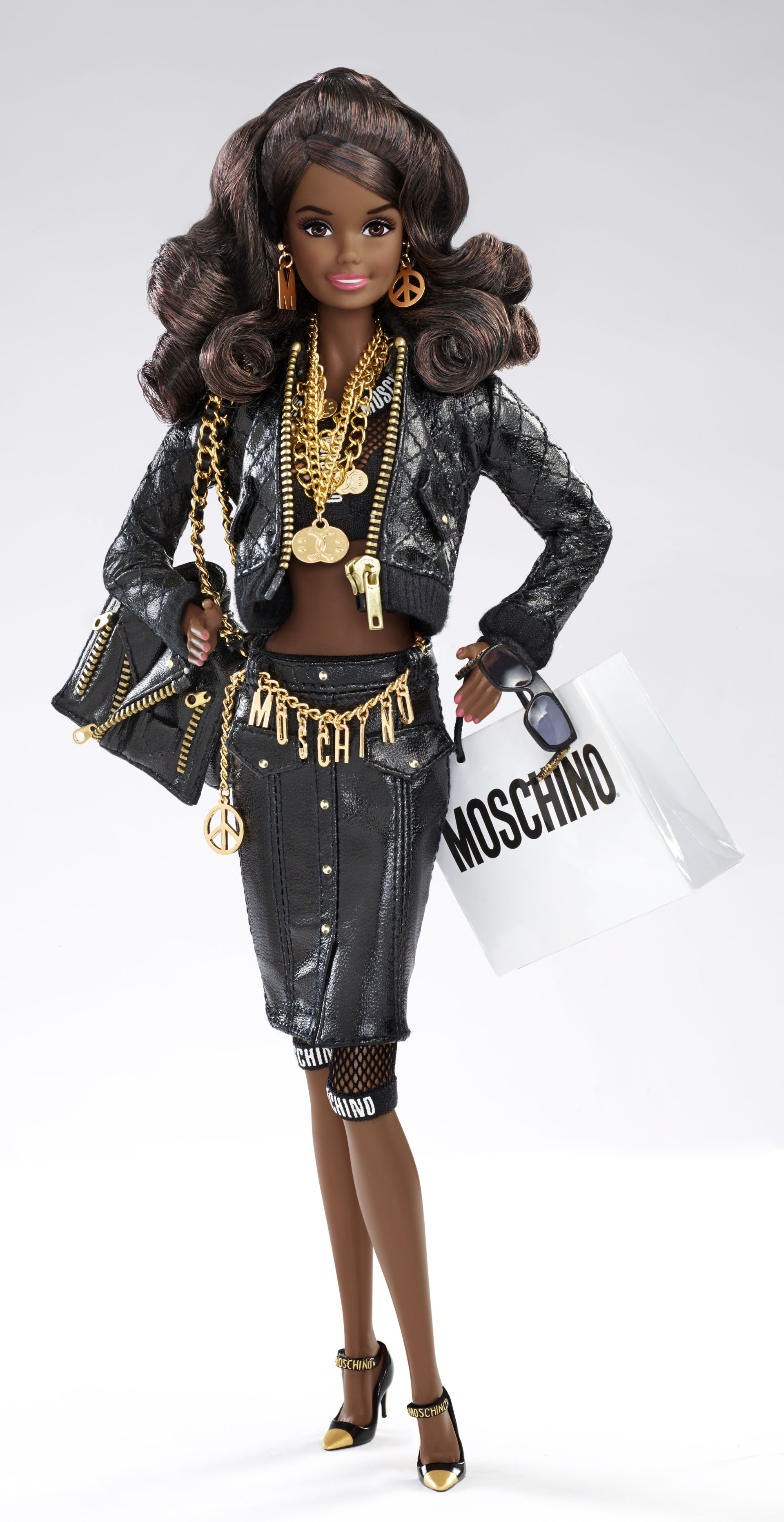 moschino barbie black leather - Google Search