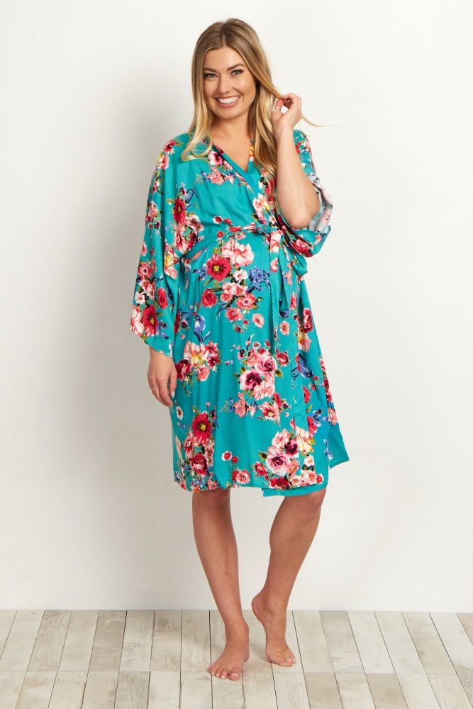 39fa9586274 Jade Floral Delivery Nursing Maternity Robe