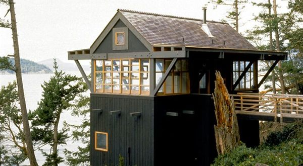 Cabin On Decatur Island (San Juan Island Chain), Washington. Designed By  Miller Hull Architects.