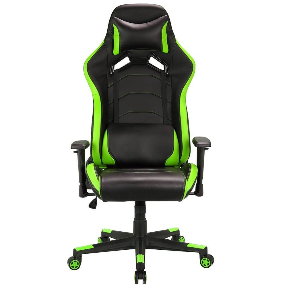 Racing Gaming Computer Chair Racing Sport Style Pu Leather Swivel Office Chair With Adjustable Head Pillow Racin Swivel Office Chair Head Pillow Office Chair