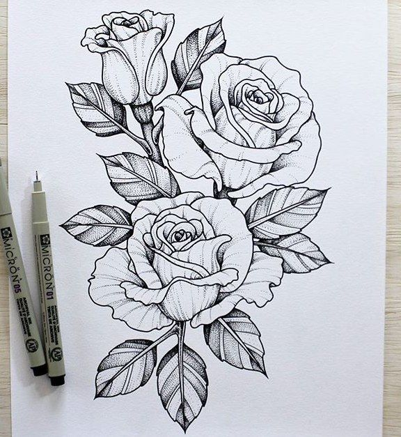 Rosas Tatuajes Faciles Сохранённые фотографии – 205 фотографий | flowers | pinterest