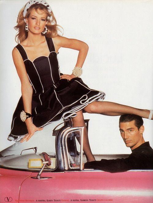 Karen Mulder. Valentino S/S 1992. Photographer: Steven Meisel.