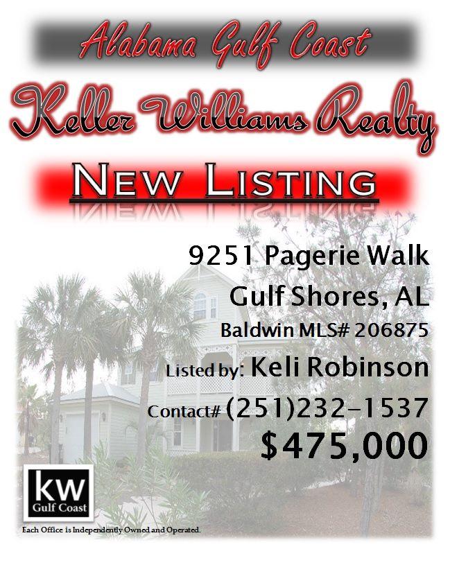 9251 Pagerie Walk, Gulf Shores, AL...MLS# 206875