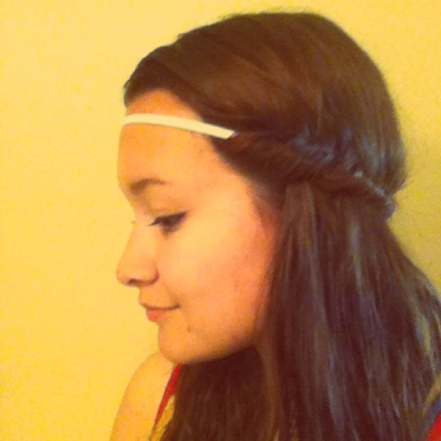 Hippie hair. When you take it out you have perfectly feathered hair!