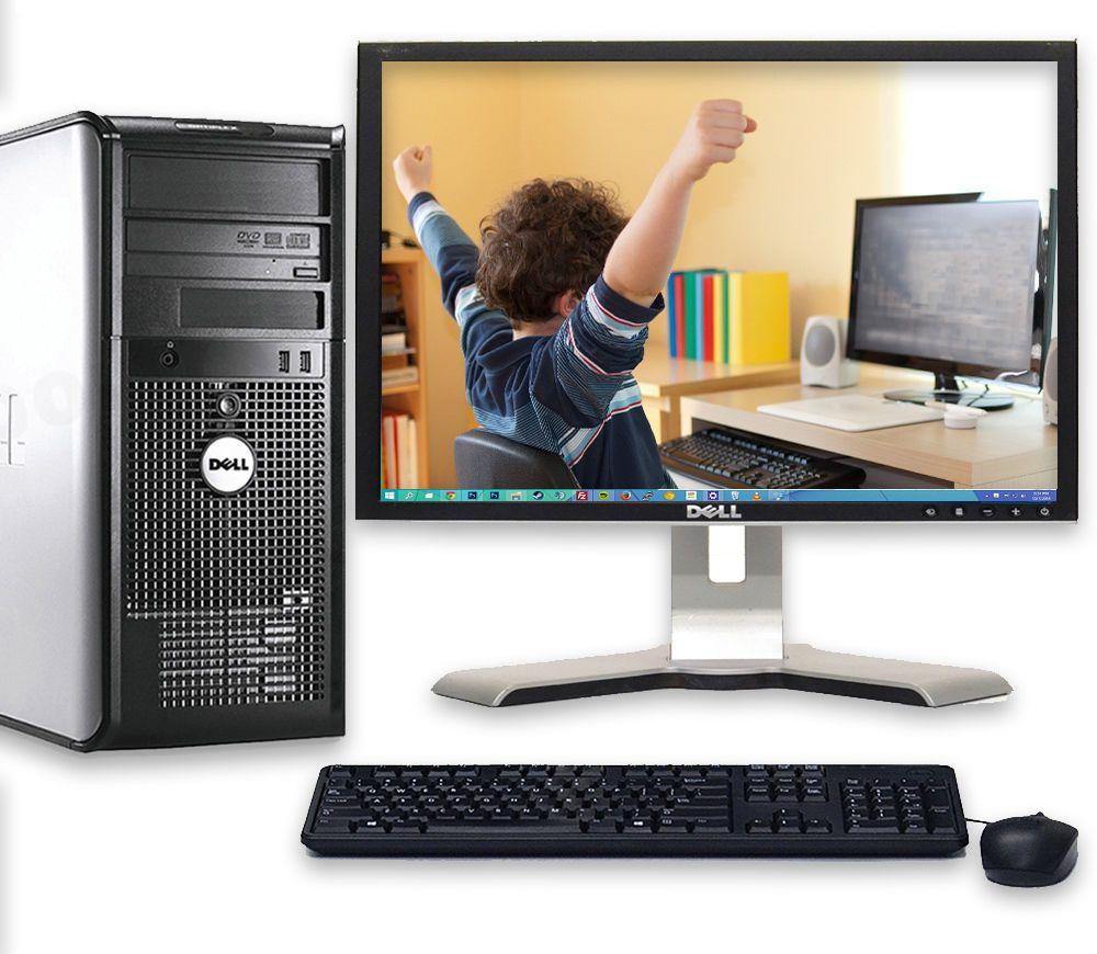 fast dell optiplex windows 10 desktop computer pc core 2 duo 4gb wifi w17