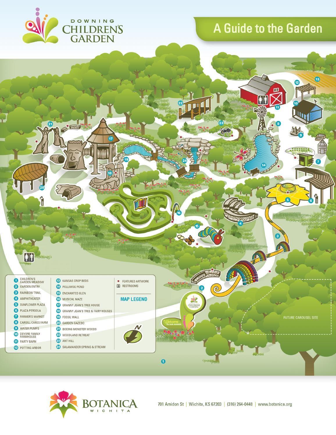 Botanica Map For Web Wichita Vacations Pinterest Kansas Usa