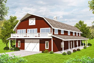 Plan 35567GH: Terrific Storage in Barn-Style House Plan | Barn ...