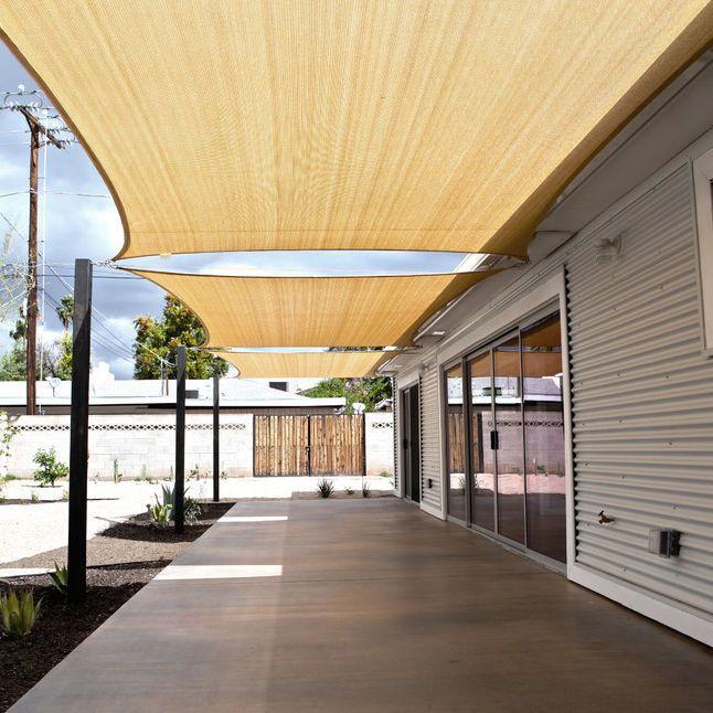 Sun Shade Sail Uv Block Outdoor Canopy Patio Lawn Pool Deck Rectangle 12 X 16