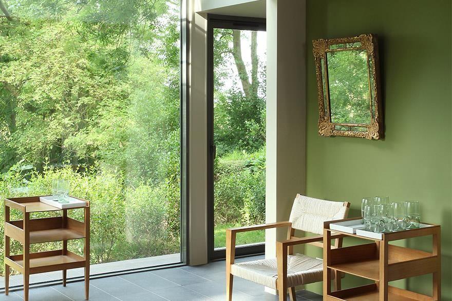 Peinture Verte Au Mur | Idées Pour La Maison | Pinterest