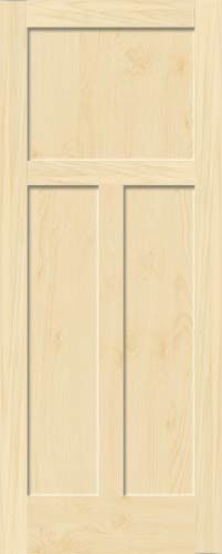 best website d54a9 a8fcc Details about 3 Panel Birch Flat Mission Shaker Stain Grade ...