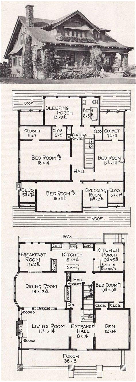61 Trendy Ideas House Plans Bungalow Layout Craftsman Homes Vintage House Plans Bungalow House Plans Craftsman House Plans