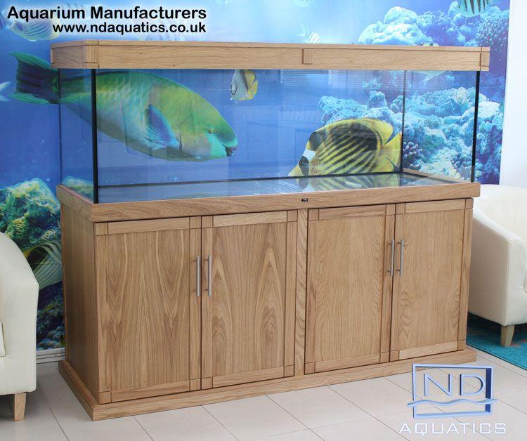 72 x 24 x 24 tropical fish tank cabinet oak mdf for Fish tank cabinets