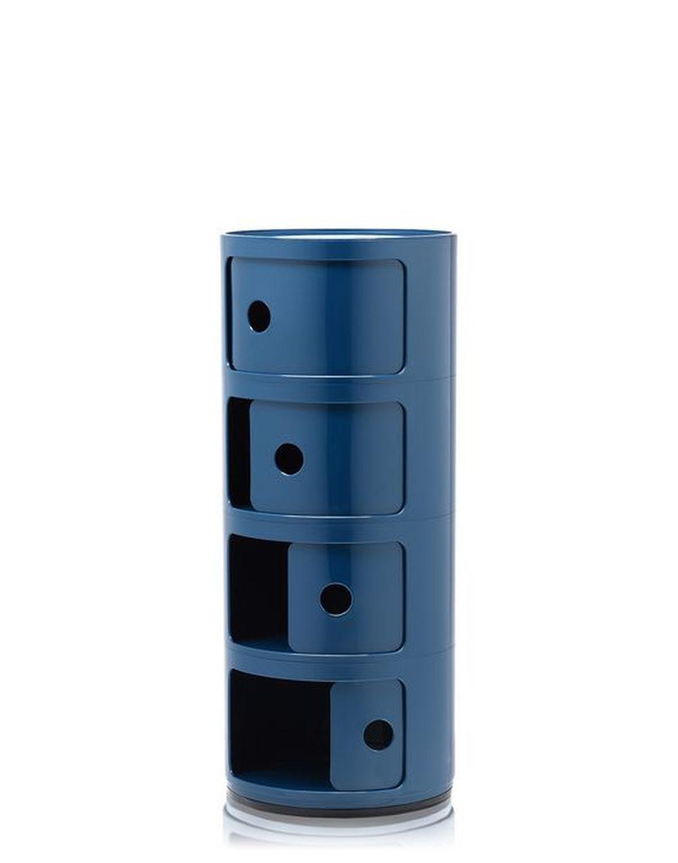 Kartell Componibili Container 4 Elemente Blau Indoor In 2020 Container Kartell Und Blau