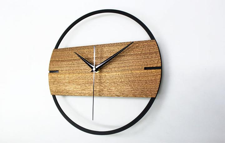 Boa Horloge Vintage Minimaliste En Bois Scandinavian Design Living Room Minimalist Wall Clocks Oversized Wall Clock