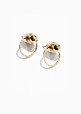 c49ac86f5 & Other Stories   Circular Drop-Back Earrings   Current Desires ...