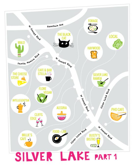 Silverlake Los Angeles Map.Silverlake Food Guide By Bri Emery Designlovefest Laeveryday