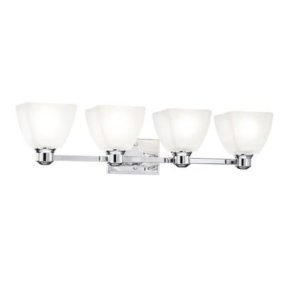 bathroom vanity lights chrome finish. Kichler Lighting Bryant Chrome Standard Bathroom Vanity Light Finish  And Modern Lines Will Complement Many Styles Includes Beautiful Re 4