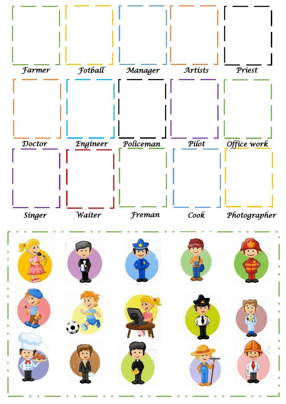 Jobs And Occupations Interactive And Downloadable Worksheet You Can Do The Exer Kids Worksheets Preschool English Worksheets For Kids English Lessons For Kids [ 1411 x 1000 Pixel ]