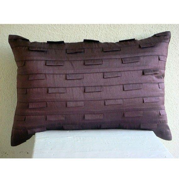 Decorative Oblong Lumbar Rectangle Throw Pillow Covers Etsy Silk Pillow Cover Etsy Pillow Covers Purple Toss Pillows