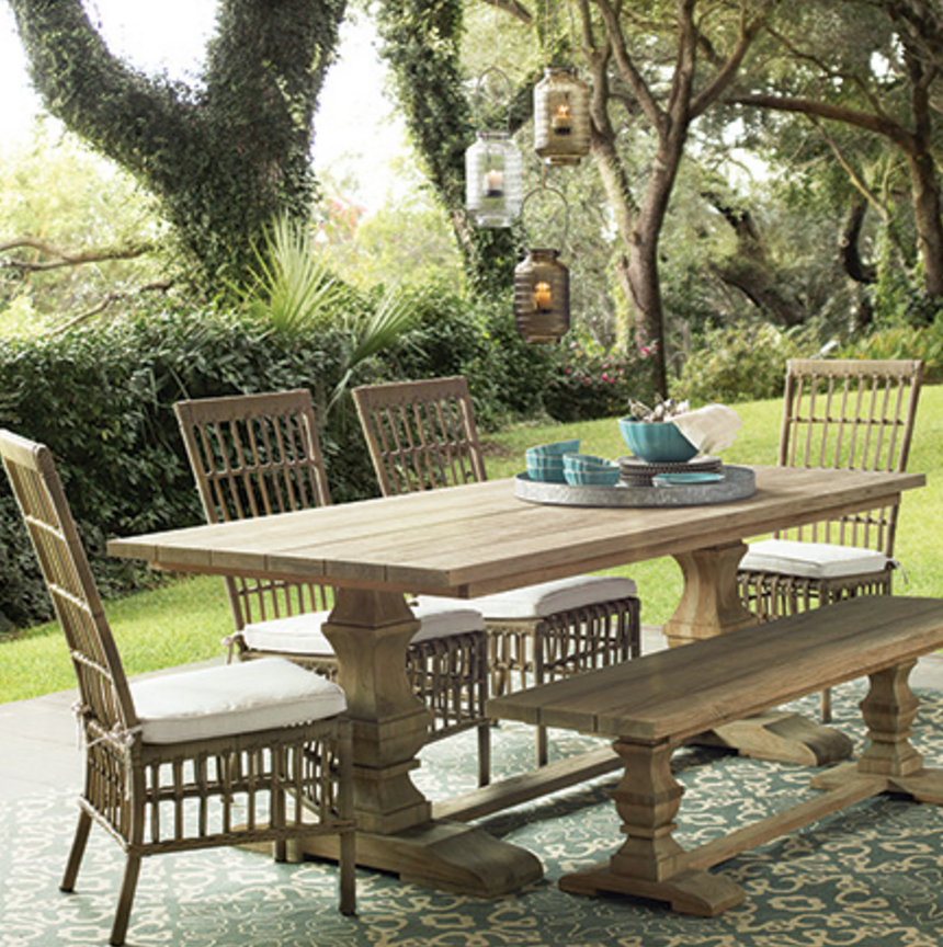 Fantastic Arhaus Hamptons 84 Teak Outdoor Dining Table 3 149 00 Uwap Interior Chair Design Uwaporg
