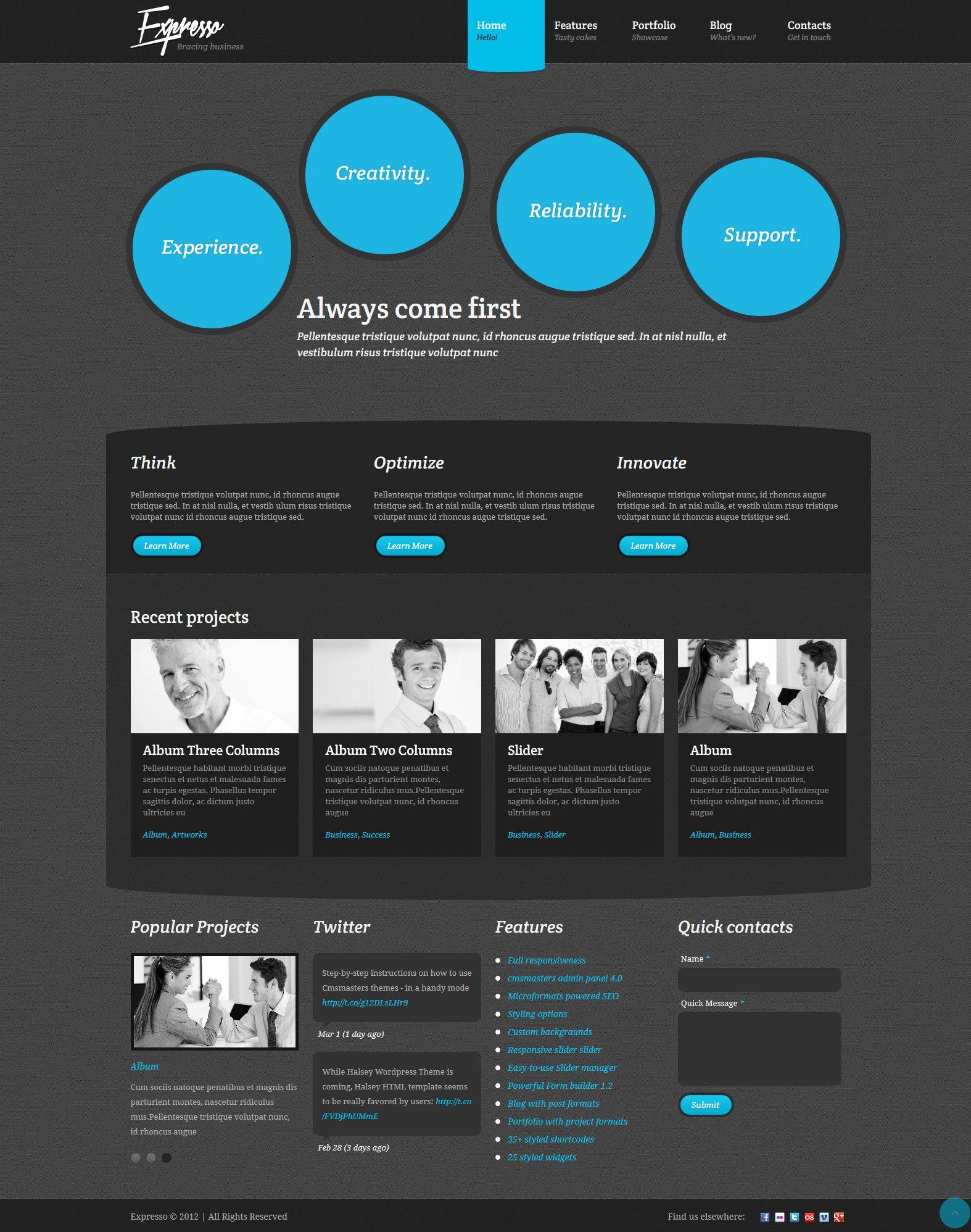 Express | Responsive, Corporate, Wordpress Template | themeforest ...