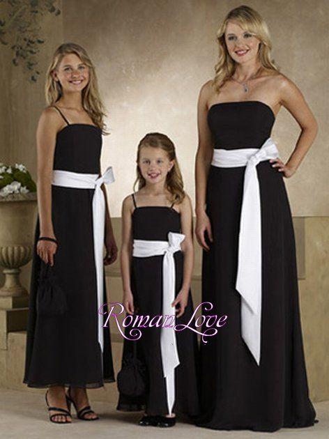 Love The Way They Tied This Sash Chiffon White Black Bridesmaid Dresses Pure Rl Bm029 118 00 Roman