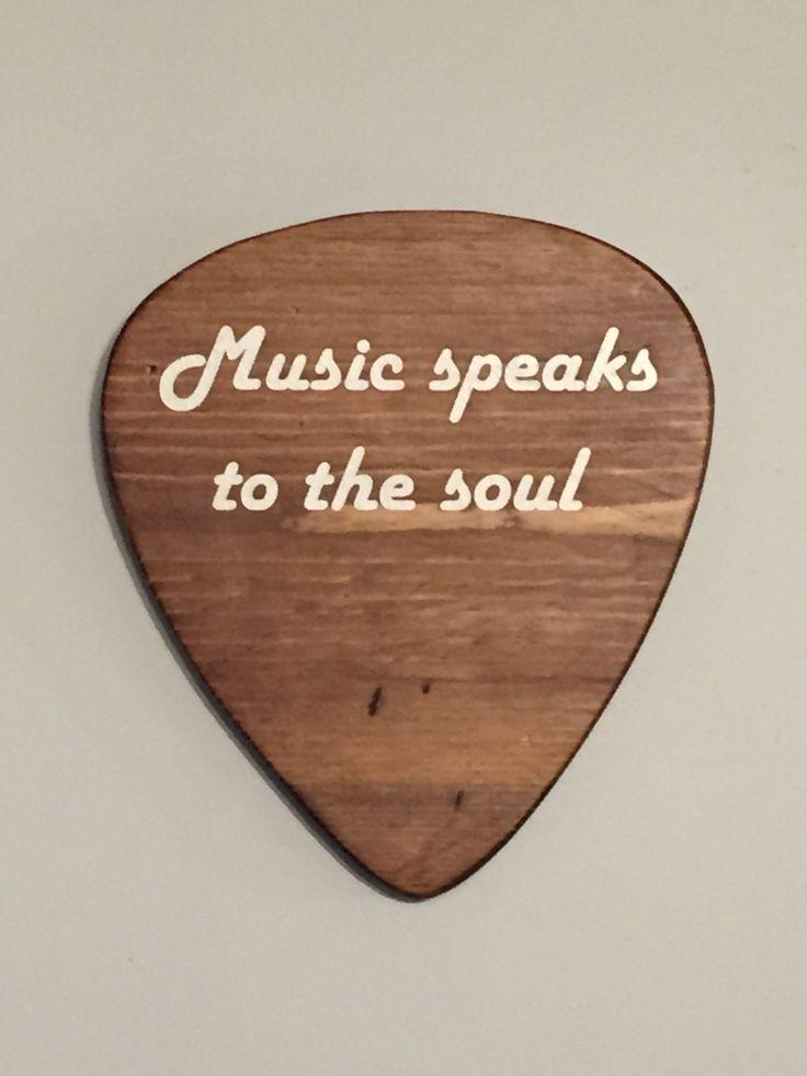 Music wall decor, Rustic wall decor, music room decor, guitar pick ...