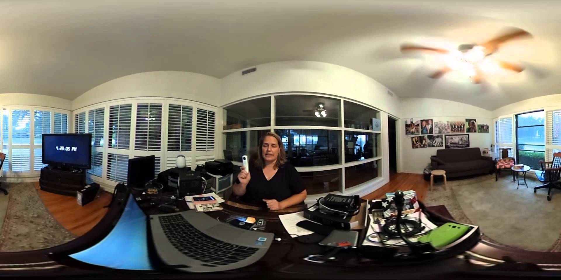 Inside my Office: my first Theta 360 S video. Best viewed via Google Chrome browser, or YouTube app on smartphone.
