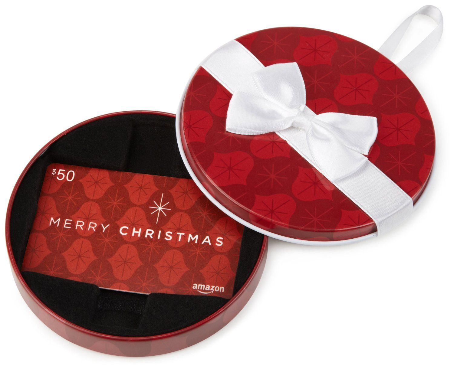Gift Card in a Ornament Tin (Merry Christmas Card Design)