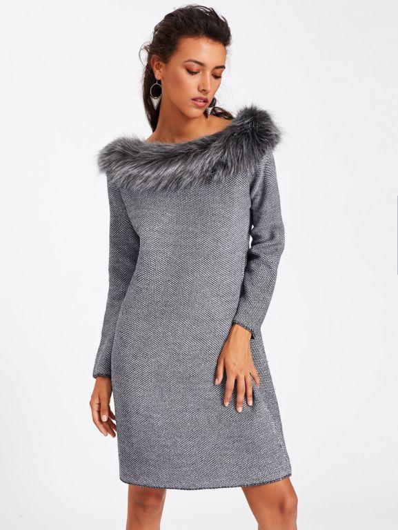 Avec Pinterest Fausse Pull Femme Vêtements Col Robe Fourrure 8wBAqW7cc
