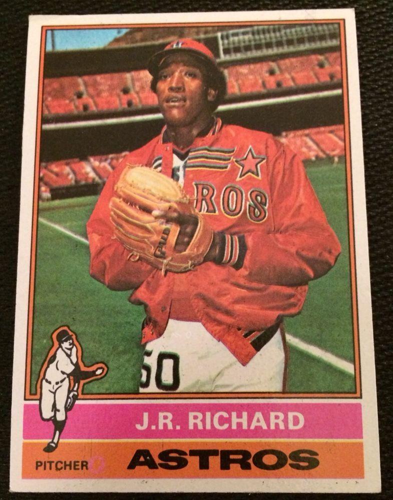Houston Astros Legend Jr Richard 1976 Topps 625