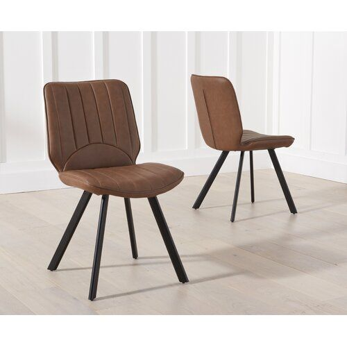 Williston Forge Harrogate Upholstered Dining Chair Leather