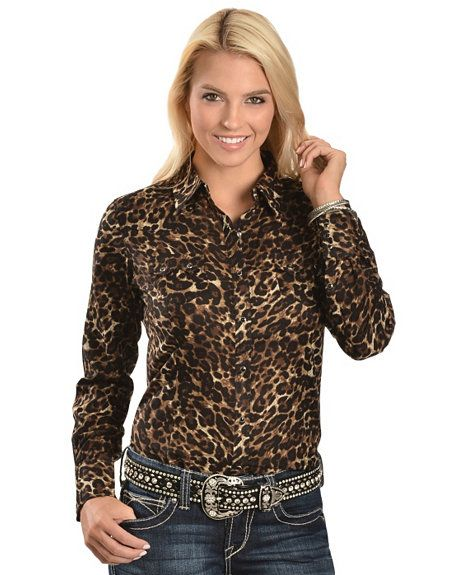 393408db Ariat Leopard Print Western Shirt   Cowgirl Style   Rodeo shirts ...