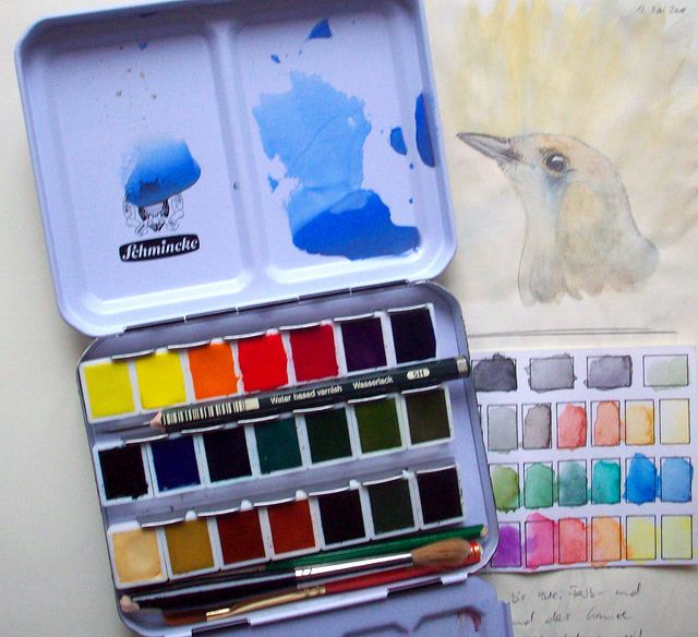 Schmincke 18er Kasten Watercolor Pochade Box Cool Paintings
