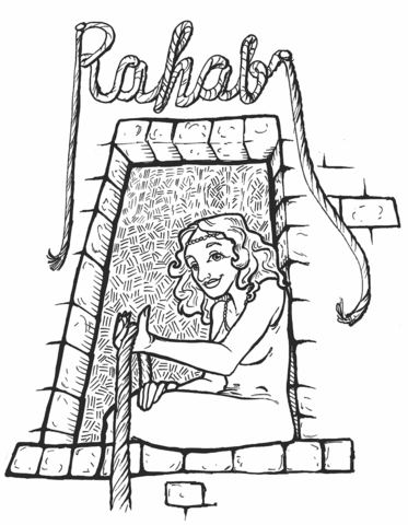 Rahab Coloring Page | Children\'s Ministry Ideas | Pinterest | Sunday ...