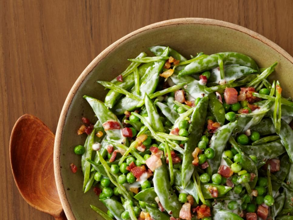 Festive easter side dishes easter side dishes easter and asparagus creamy spring peas sweet peas and smoky pancetta is a classic combination food network magazine finished this version with a lemony cream sauce forumfinder Image collections