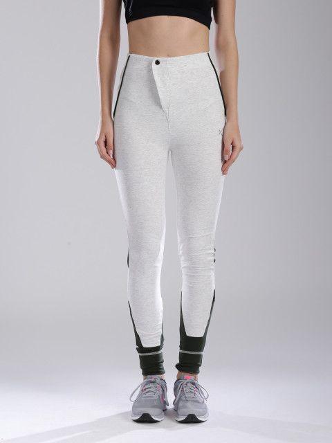 710cbd9afe9 Buy HRX By Hrithik Roshan Off White Track Pants - Track Pants for Women |  Myntra