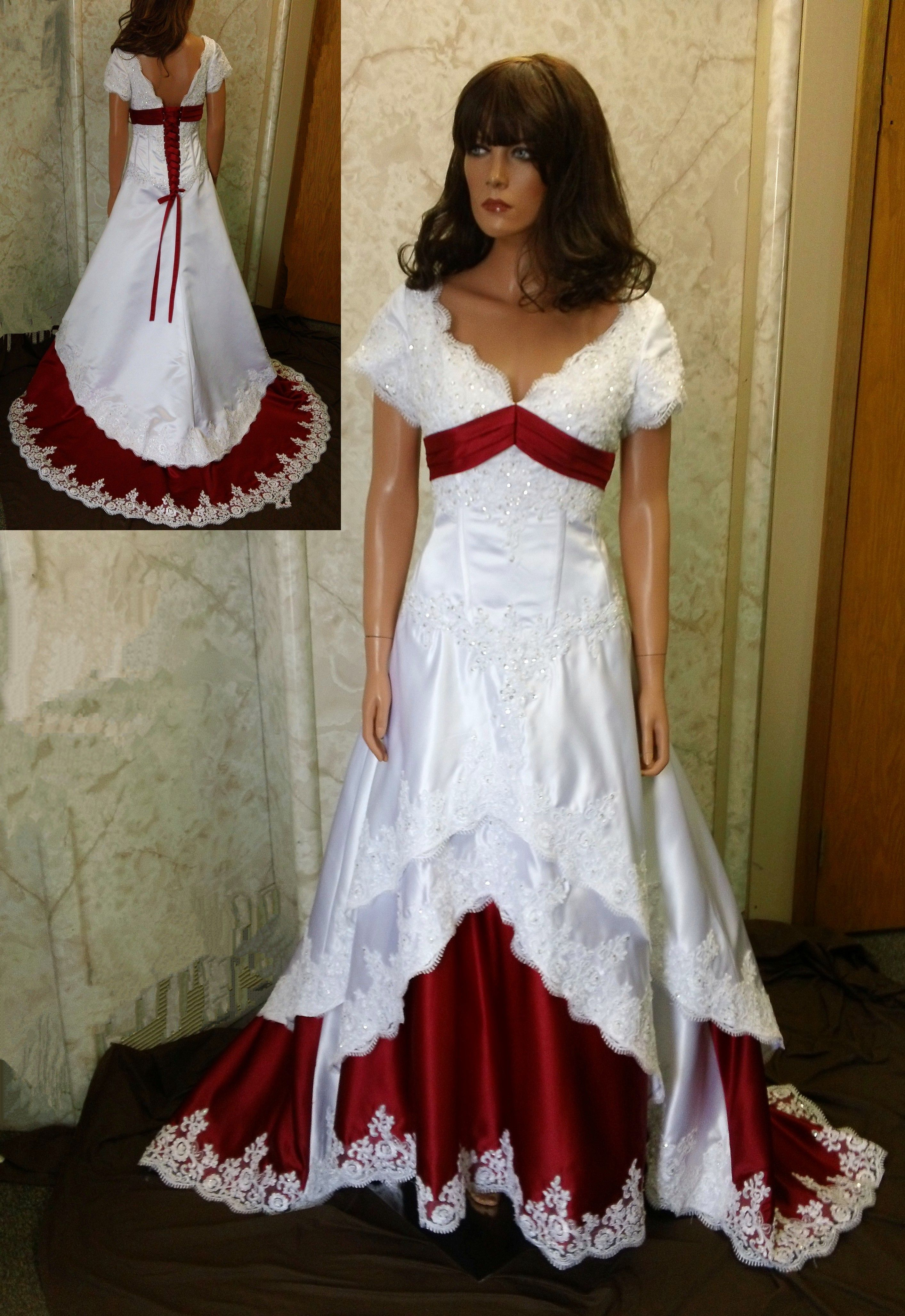 Colorful Bridal Gowns Color Accents Bridal Gown Red Wedding Dresses Red Bridal Dress Colored Wedding Dresses [ 4113 x 2827 Pixel ]