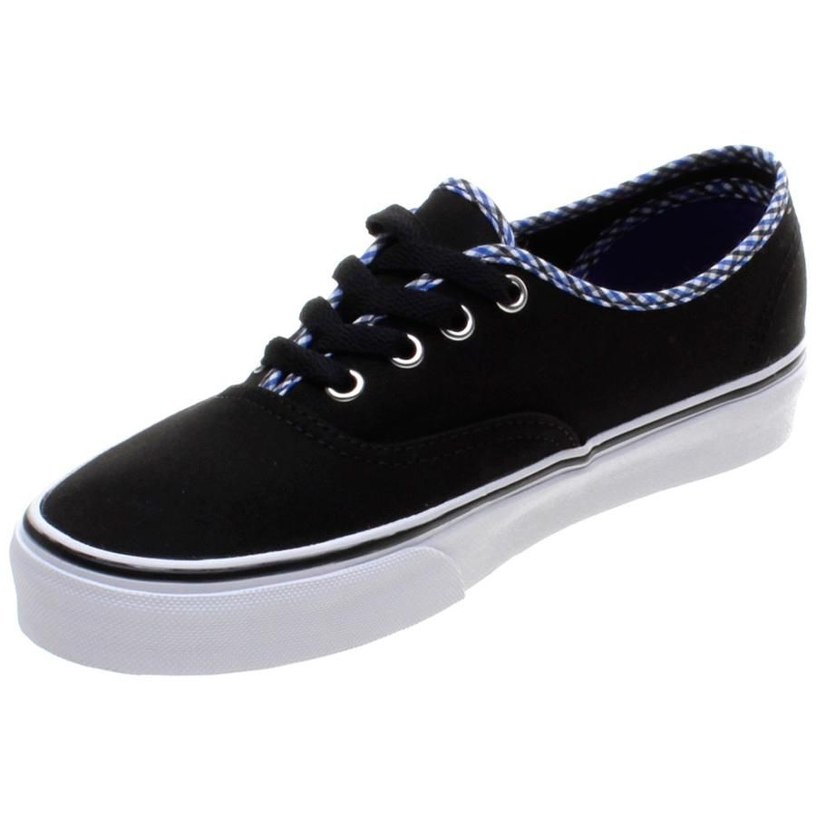 6352f72e169 From Vans Trainers the Authentic in a neat Black White Gingham and Plaid  colour way. This is the Vans shoe that has stayed true to its roots and has  not ...