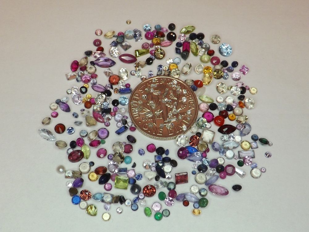Sale  20ct Mixed Melee Lot w/ Diamonds from scrap gold silver & vintage jewelry