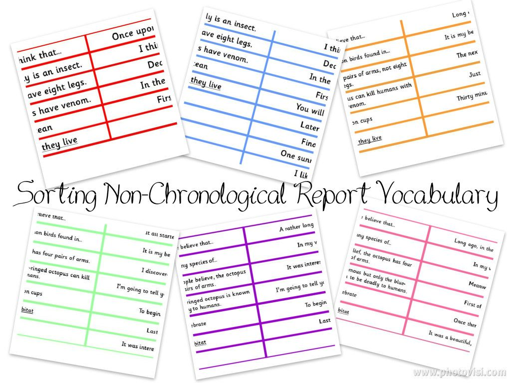 Pay for writing non chronological reports