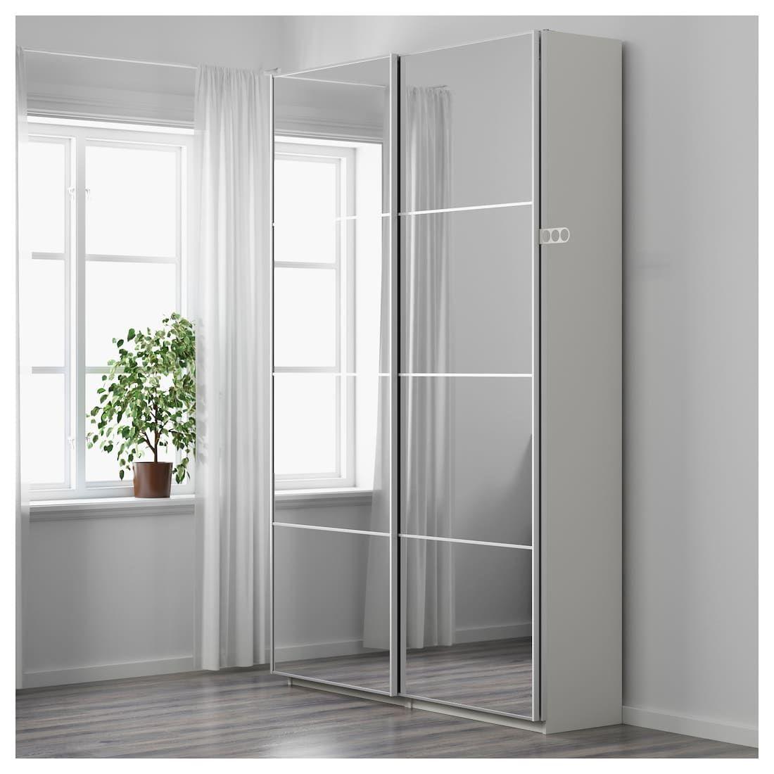 Pax Wardrobe White Auli Mirror Glass 59x17 3 8x93 1 8 Ikea Pax Wardrobe Bedroom Decor Ikea Wardrobe