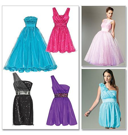 M6466 Misses\' Lined Dresses and Flower | Would Love to be able make ...