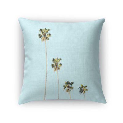 "Kavka Four Palms Throw Pillow Size: 18"" H x 18"" W x 5"" D"