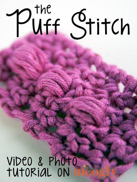 Puff Stitch (Cluster Stitch) (moogly) | borse all\'uncinetto ...