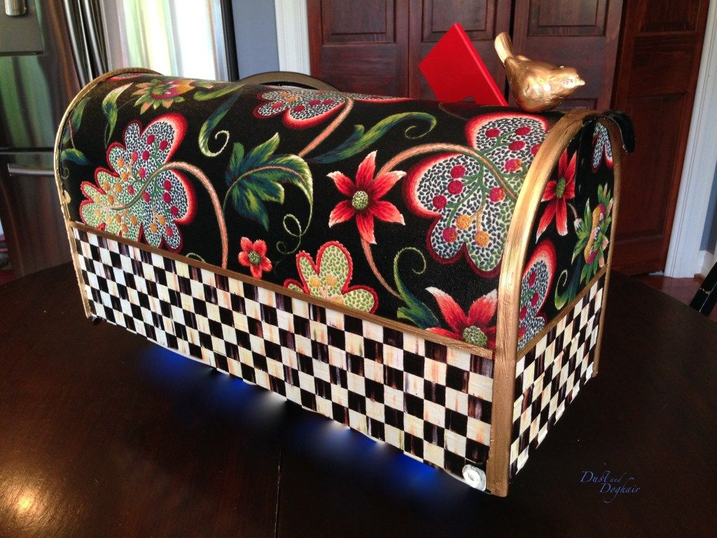 A New Decorative Mailbox | Whimsical painted furniture ...  Funky Painted Mailboxes