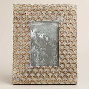 Gray Fish Scale Wood Frame Hizzy Decor Wishlist Pinterest