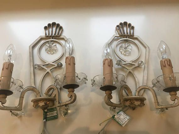 Beautiful pair of french tole brass wall sconces made in the 1950s beautiful pair of french tole brass wall sconces made in the 1950s excellent vintage condition aloadofball Choice Image