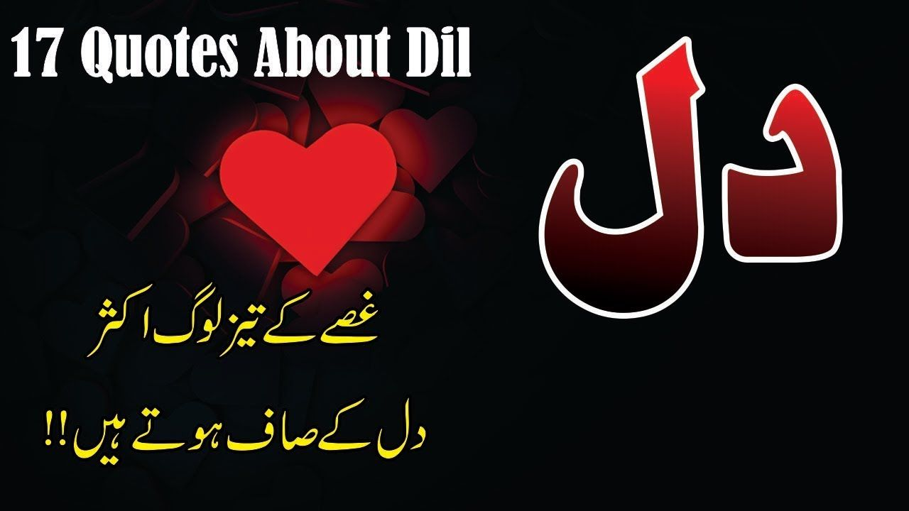 17 Best quotes about Dil in hindi urdu with voice and